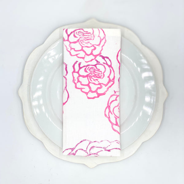 Peony Linen Napkins in Pop Rocks (Set of 4)