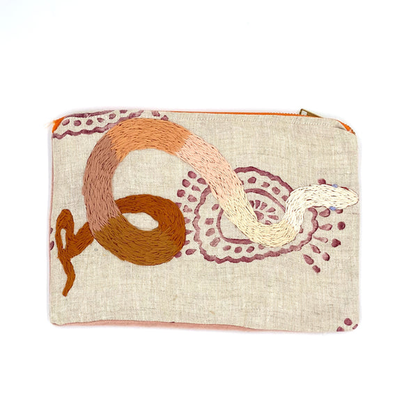 Snake + Print Clutch (multiple colors)