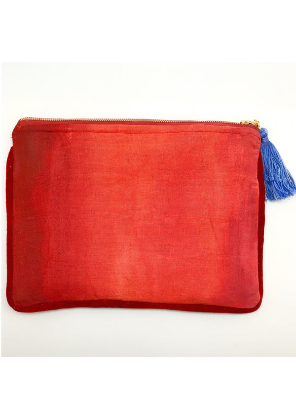 Ombré Clutch in Reds