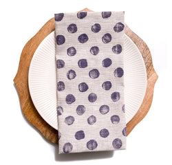 Polka Dot Linen Napkin in Purple Haze by Tulusa