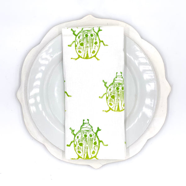 Beetle Linen Napkins in Prickly Pear (Set of 4)