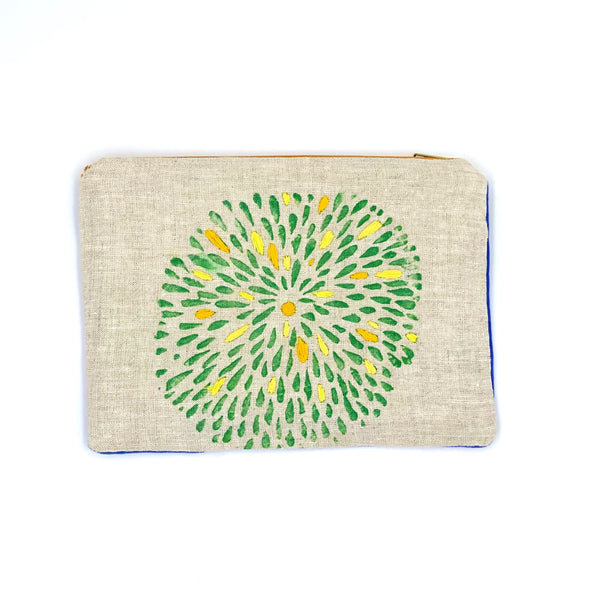 Embroidered Mums Clutch (multiple)