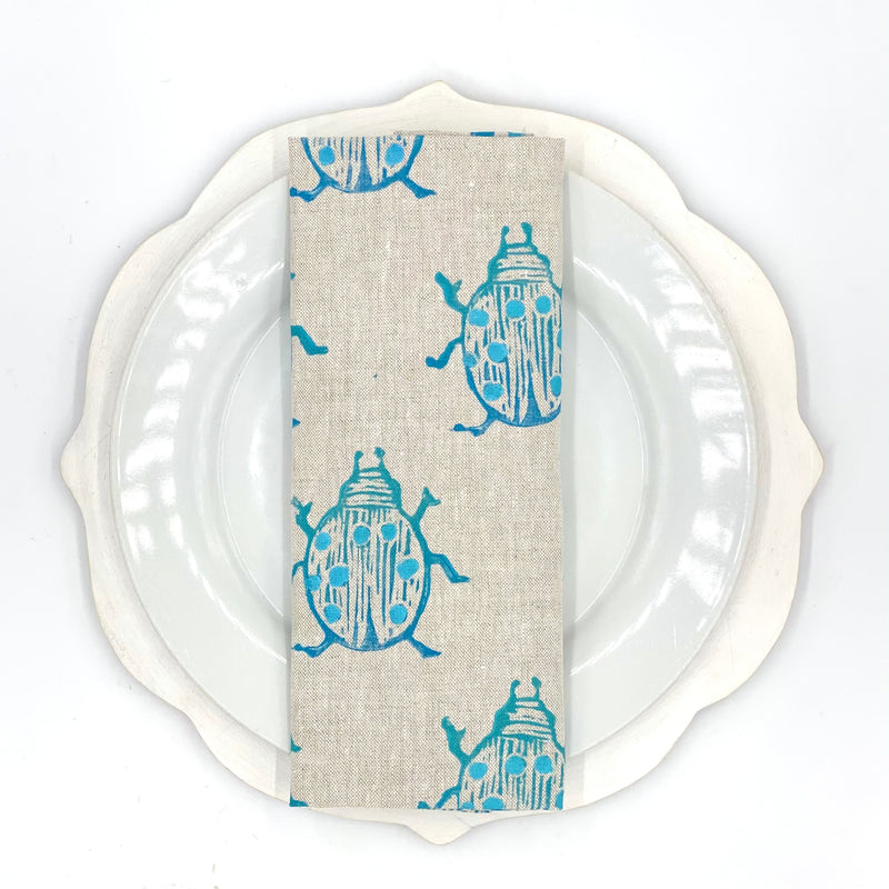 Beetle Linen Napkins in Huckleberry (Set of 4)