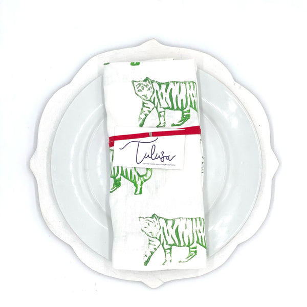 Holiday Collection | Linen Napkins in Tiger (Set of 4)