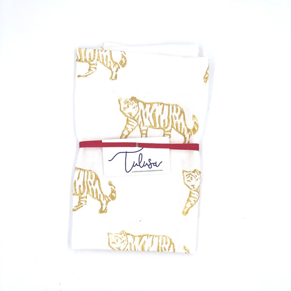 Holiday Collection | Linen Tea Towel in Tiger