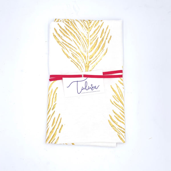 Holiday Collection | Linen Tea Towel in Feather