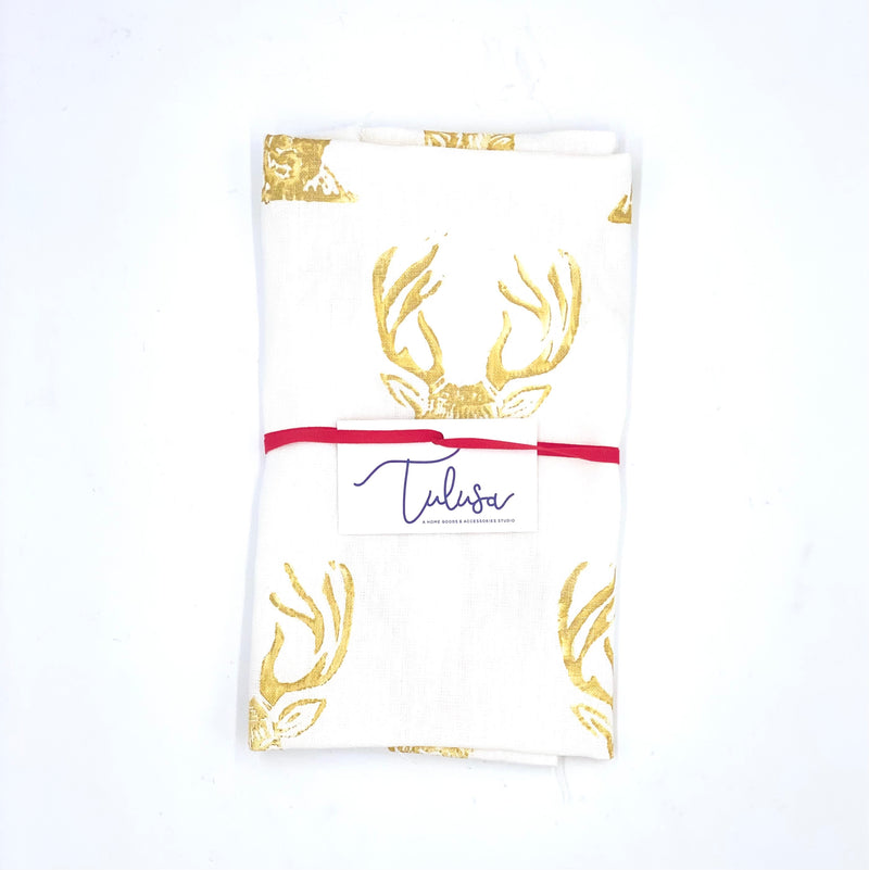 Holiday Collection | Linen Tea Towel in Stag