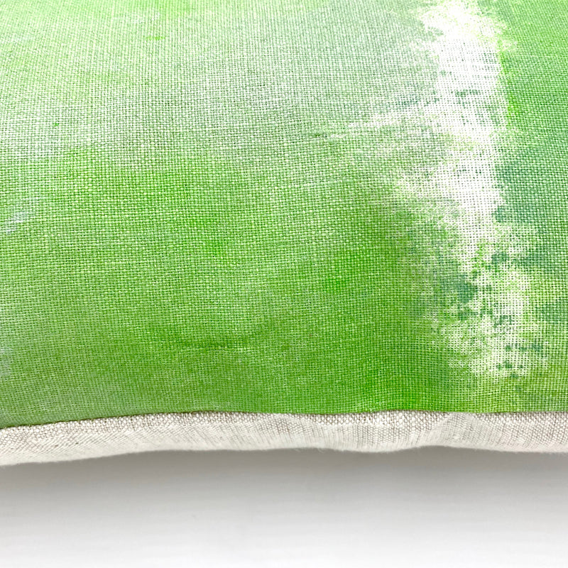 Hand-Painted Pillow in Sage Mist