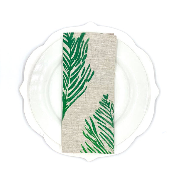 Holiday Collection | Linen Napkins in Feather (Set of 4)