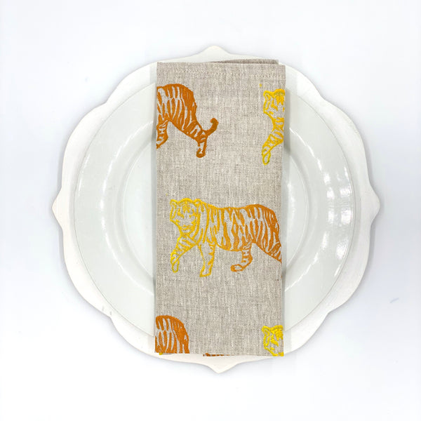 Linen Napkins in Tiger Ombré (Set of 4)