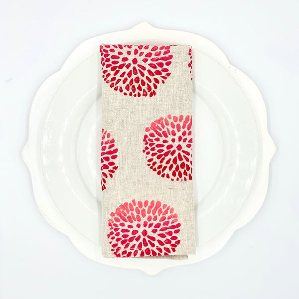 Linen Napkins in Pom Pom Ombré (Set of 4)