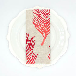 *Linen Napkins in Feather - Ruby Ombré (Set of 4 or Set of 2)