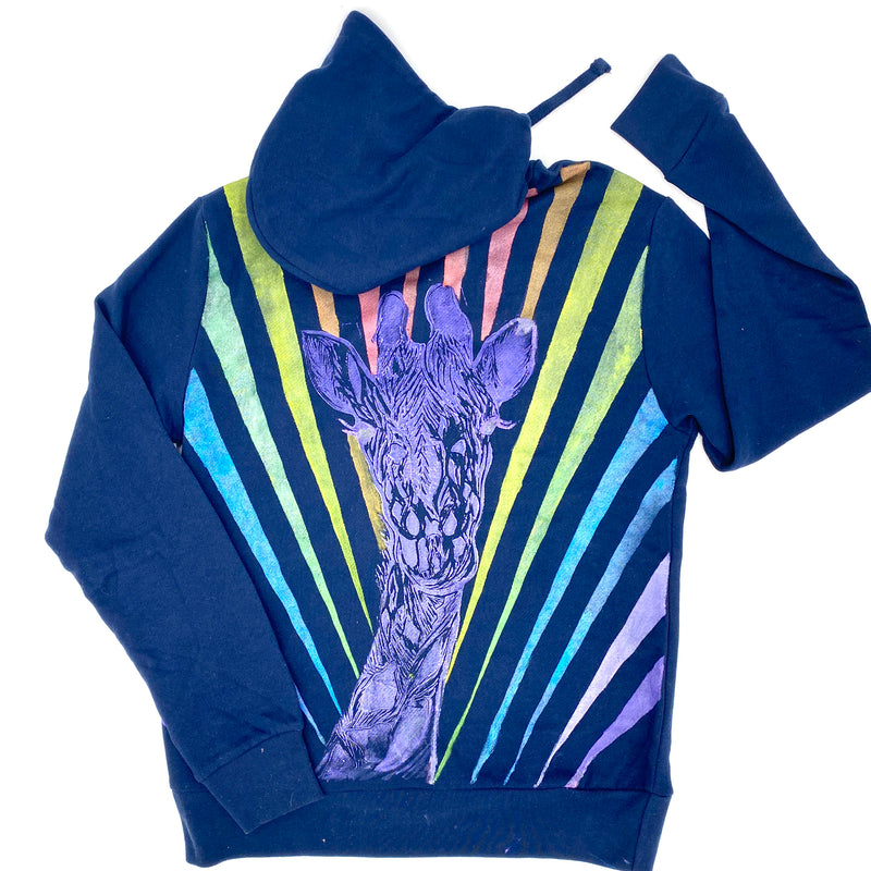 Hoodie in Superstar Giraffe with Rainbow Rays