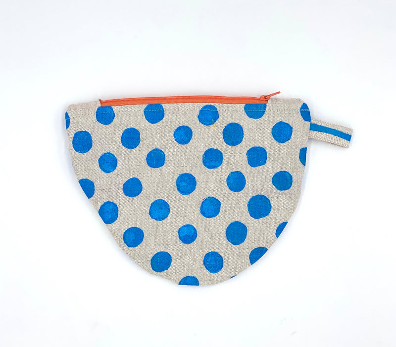 Half-Moon Makeup Bag in Dots