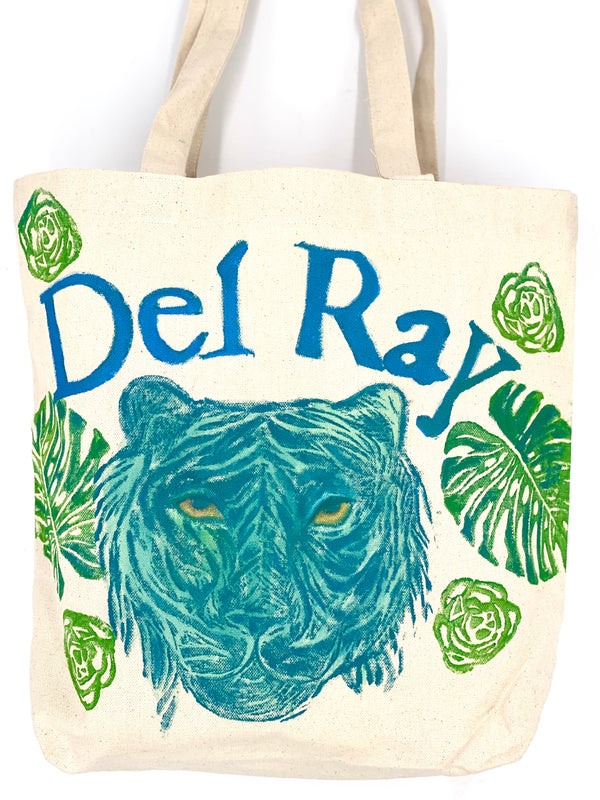 Tiger Tote for a Cause - Del Ray Edition in Turquoise