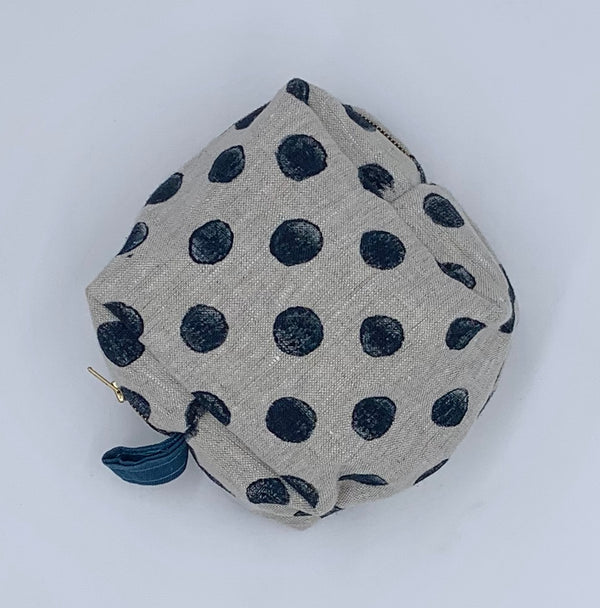 Petite Traveler Kit in Navy Dots