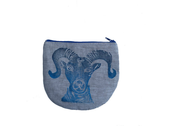 Ram Pouch in Blue Tulusa