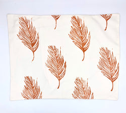 Block-Print Feather Standard Sham (multiple colors)