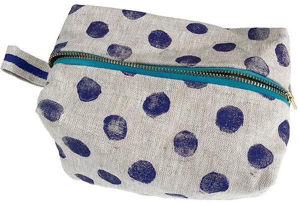 Traveler Bag in Purple Polka Dots Tulusa