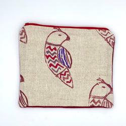 Chevron Embroidered Bird Clutch (multiple colors)