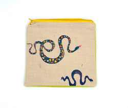 Embroidered Snake Clutch (multiple colors)
