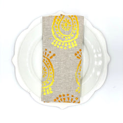 Linen Napkins in Pineapple Flower Ombré (Set of 4)
