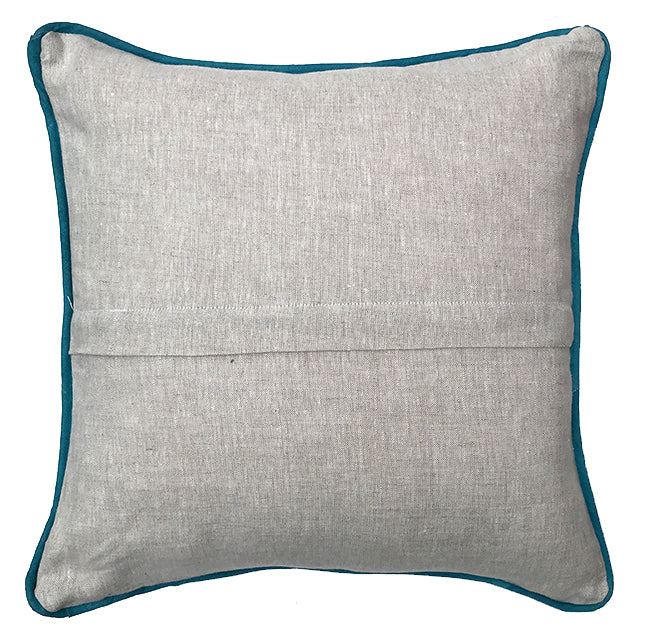 Beetle Pillow in Navy|Oat