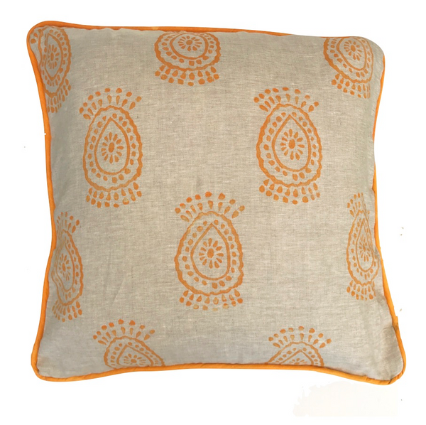 pineapple flower pillow in mango|Tulusa