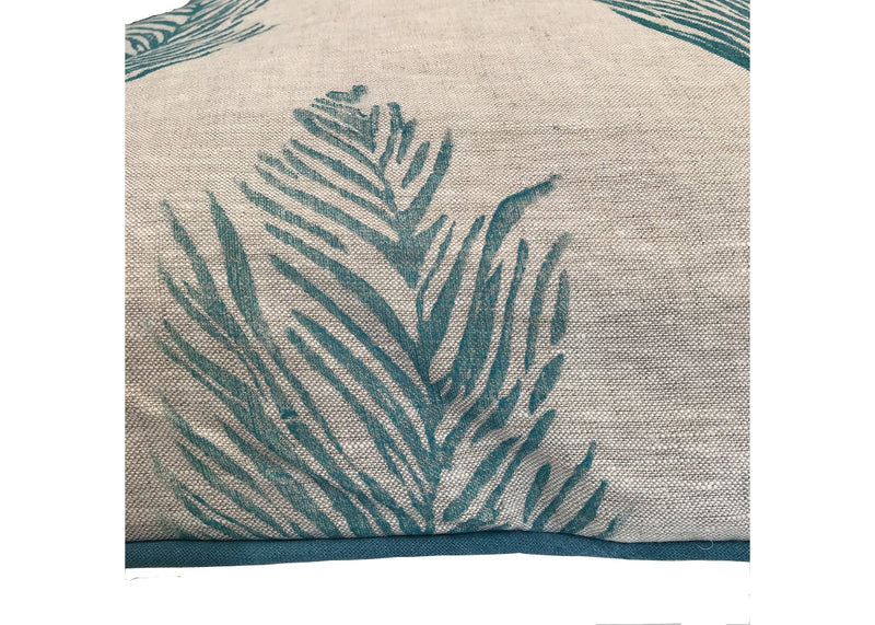 Feather Print Pillow detail|Tulusa