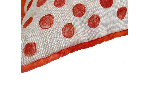 Copy of Polka Dot Pillow in Coral|Oat