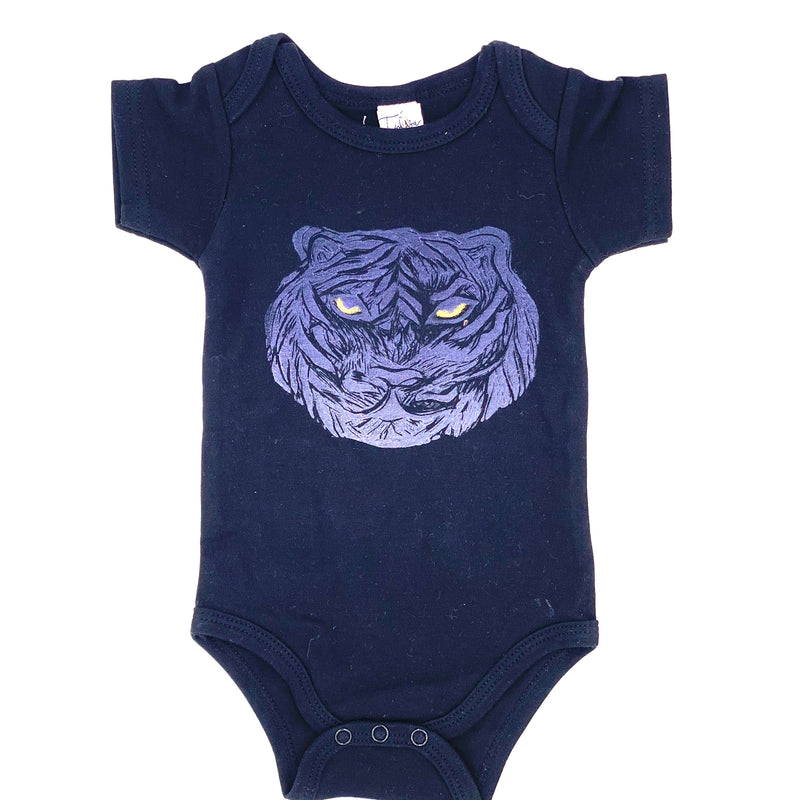 *Short-Sleeve Tiger Onesie in Black (multiple sizes)