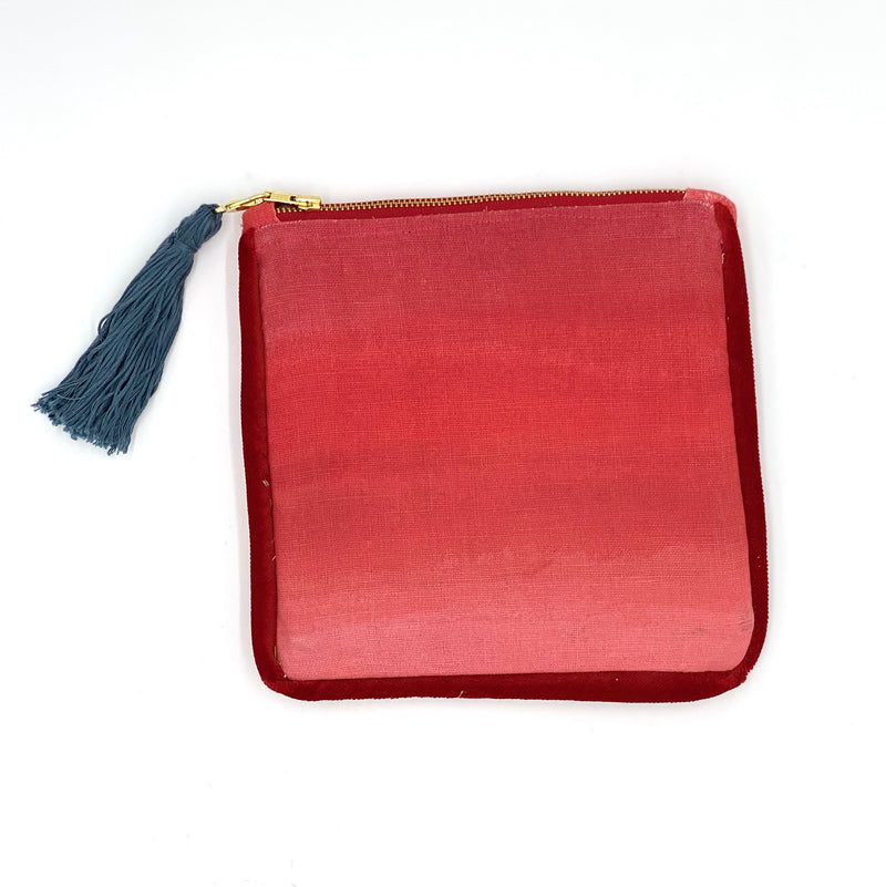 Ombre Clutch in Red