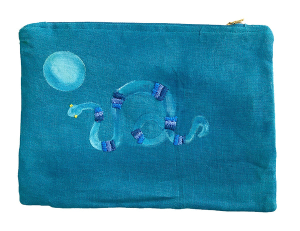 The Snake and the Full Moon in Blue