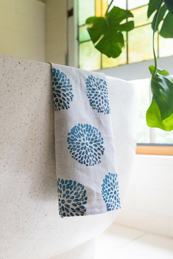 *Linen Tea Towel in Pom Pom Ombré (multiple colors)