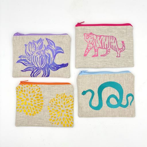 Zip-Top Coin Purse (multiple colors and patterns)