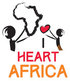 The Official I Heart Africa Logo The Continent Of Africa Supported By Two People