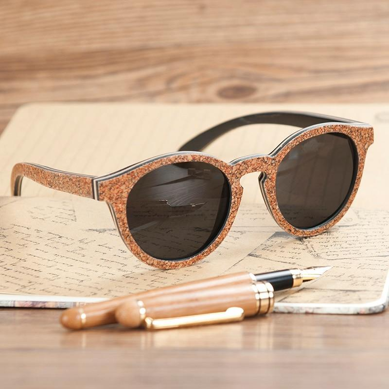 Ethically Sourced Vegan Friendly BoBo Bird Anti-Reflective Circular Frame Sunglasses - The Vegan Gift Shop