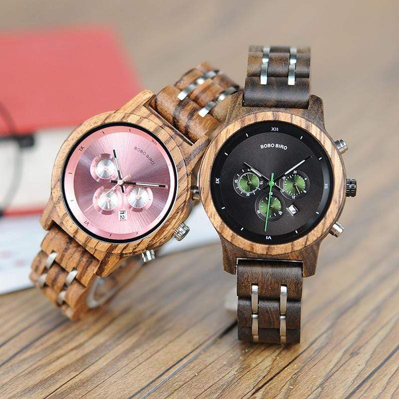 Ethically Sourced Vegan Friendly Bobo Bird Versatile Luxury Womens Natural Wood Watch - The Vegan Gift Shop