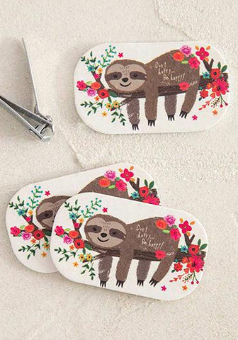 Emery Board Set of 3 Sloth