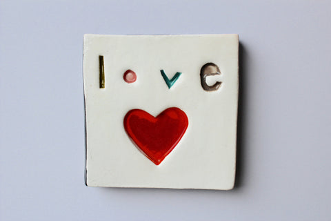 Square Tile - Love
