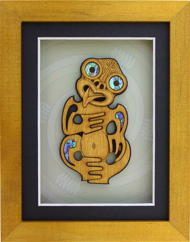 Carved Tiki Frame Medium