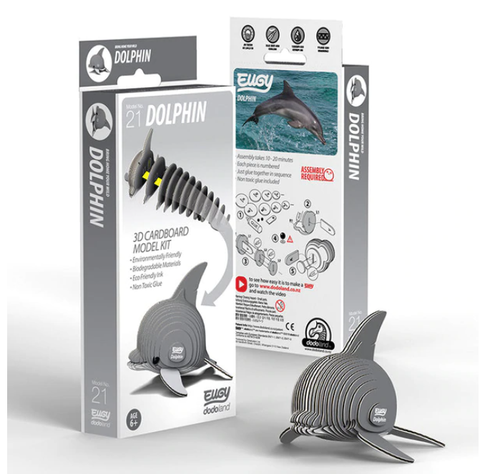 3D Cardboard Kit Set - Dolphin