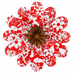 NZ Made Floral Red Kitset Flower Large