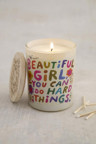 Soy Jar Candle Beautiful Girl