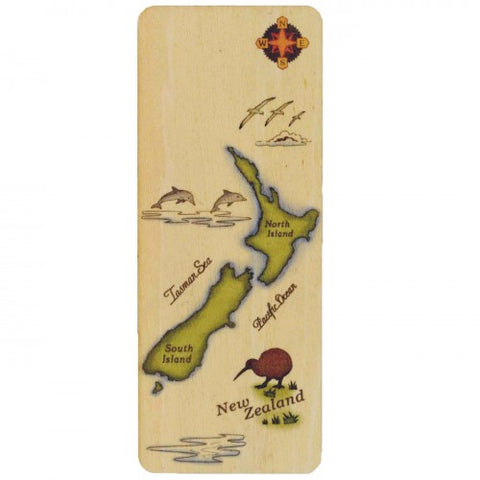 NZ Made Bookmark NZ Map