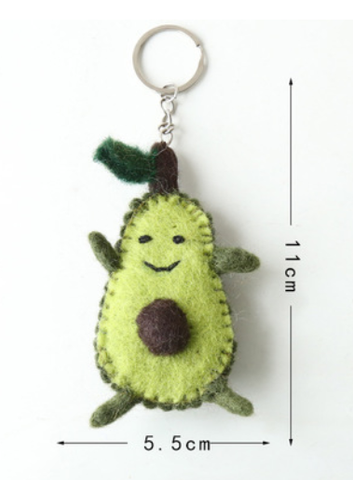 Wool Felt Craft Keyring Avocado