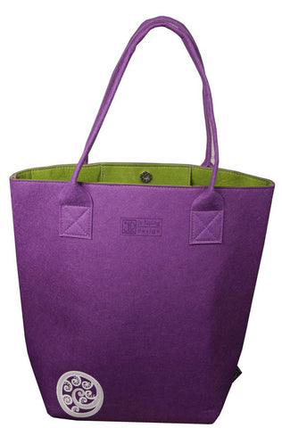 Ponga Purple & Green Shoulder Tote