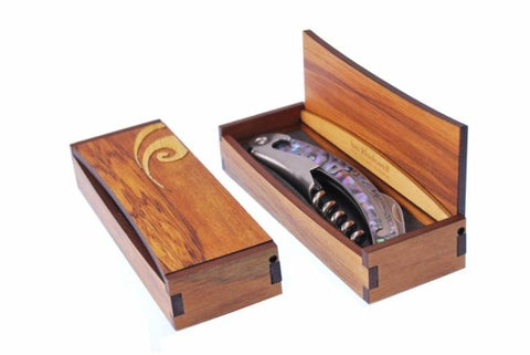 Corkscrew Paua in Rimu Box