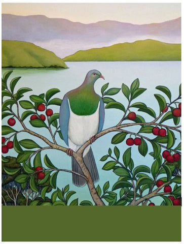 Kereru At Waters Edge - Mini Notepad