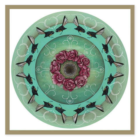 Box Frame - Fantail Kaleidoscope (Metallic Frame)